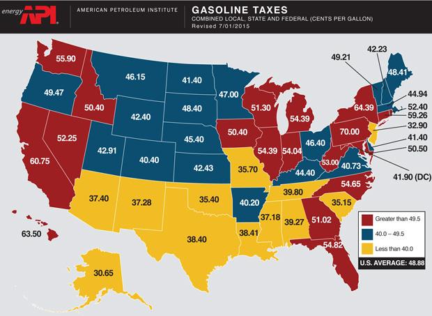 Gasoline-Tax-Map